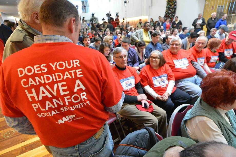 Hour Photo/Alex von Kleydorff Republican Presidential candidate John Kasich Town Hall Meeting at Sacred Heart University in Fairfield Conn. on Friday