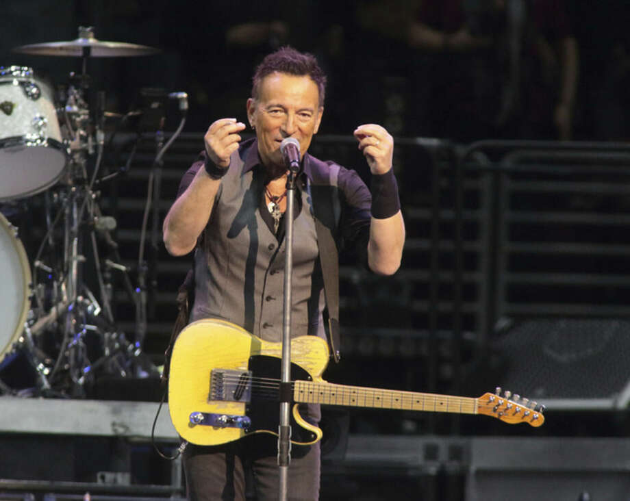"FILE - In this Feb. 12, 2016 file photo, Bruce Springsteen performs in concert with the E Street Band during their ""The River Tour 2016"" at the Wells Fargo Center in Philadelphia. Springsteen has canceled his concert in North Carolina, citing the state's new law blocking anti-discrimination rules covering the LGBT community. In a statement on his website Friday, April 8, 2016, Springsteen said he was canceling the concert scheduled for Sunday in Greensboro because of the law, which critics say discriminates against gay, lesbian, bisexual and transgender people. (Photo by Owen Sweeney/Invision/AP, File)"
