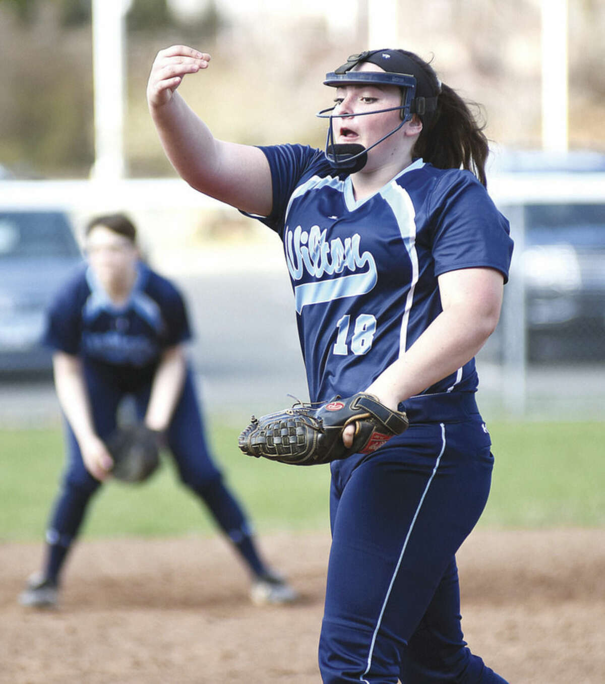 Wilton High pitcher Sage Zunda looks to deliver the Warriors back to the state playoffs in this, her third year, as a starter.