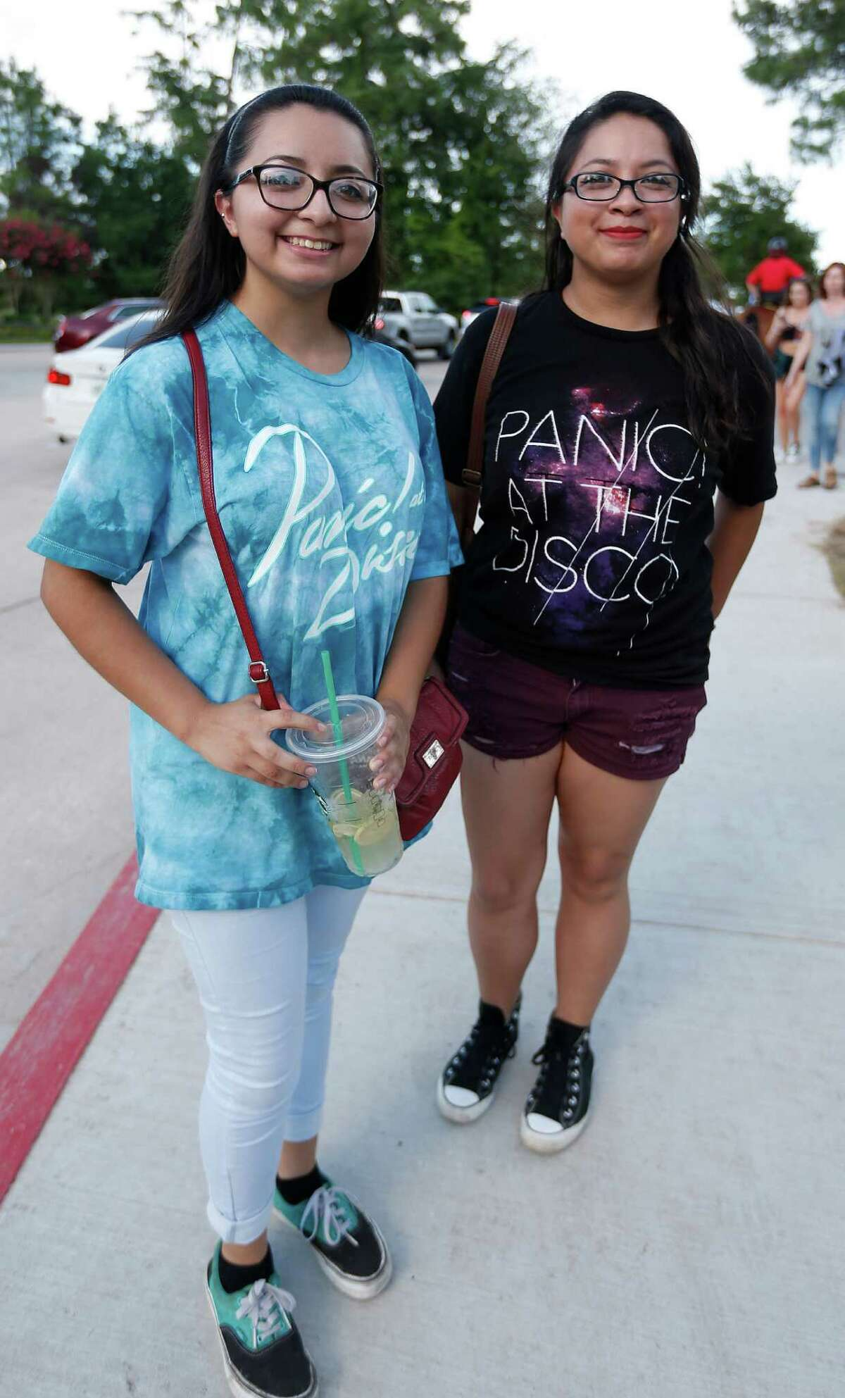 Fans at the Weezer-Panic! at the Disco concert at the Cynthia Woods Mitchell Pavilion in The Woodlands on June 10.