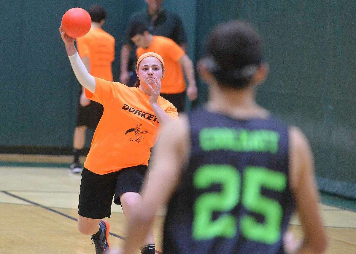 Hour Photo/Alex von Kleydorff Norwalk High School's sixth annual Charity Dodgeball Tournament to benefit local charities.