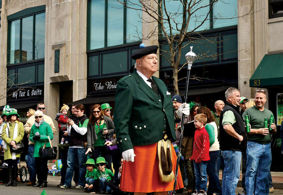 Hour photo / Erik Trautmann Local music and dance organizations participate in The Stamford St. Patrick's Day Parade as it follows last year's parade route proceeding North on Atlantic Street and continuing onto Bedford Street Saturday.