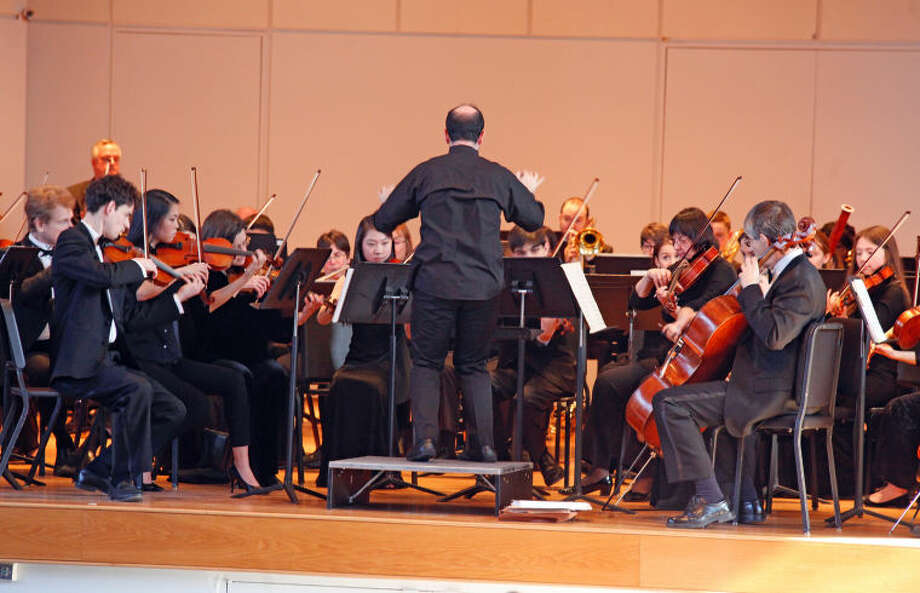 "Overture to ""Barber of Seville"" is played by Side-by-Side and the Norwalk Youth Symphony Principal Orchestra at Norwalk City Hall Sunday afternoon. Hour Photo / Danielle Calloway"