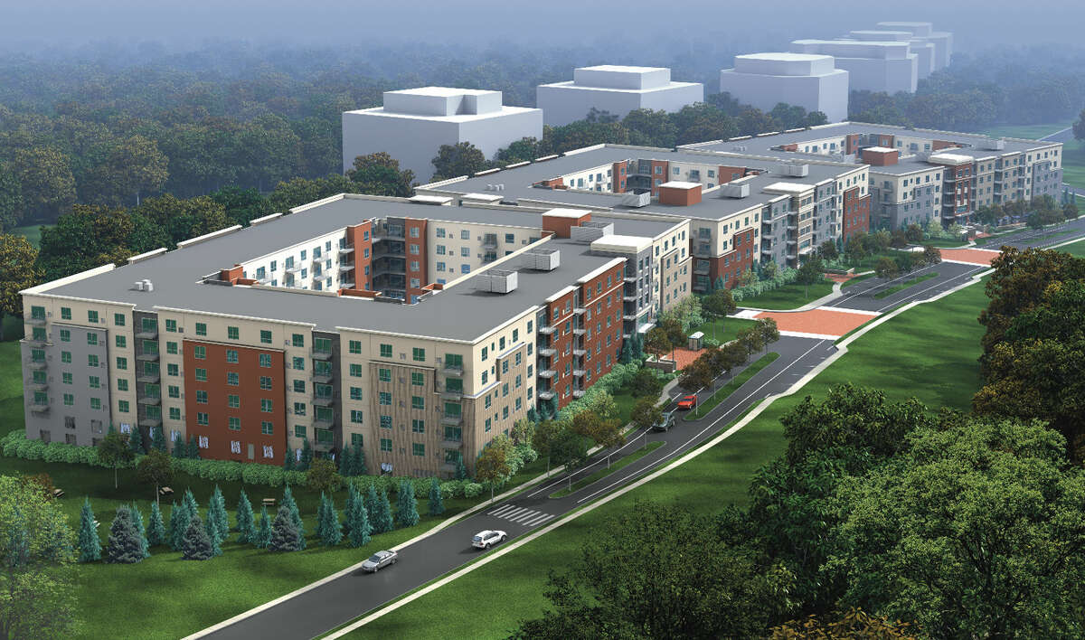 Contributed rendering Rendering of Grist Mill, a housing development by Building & Land Technology.