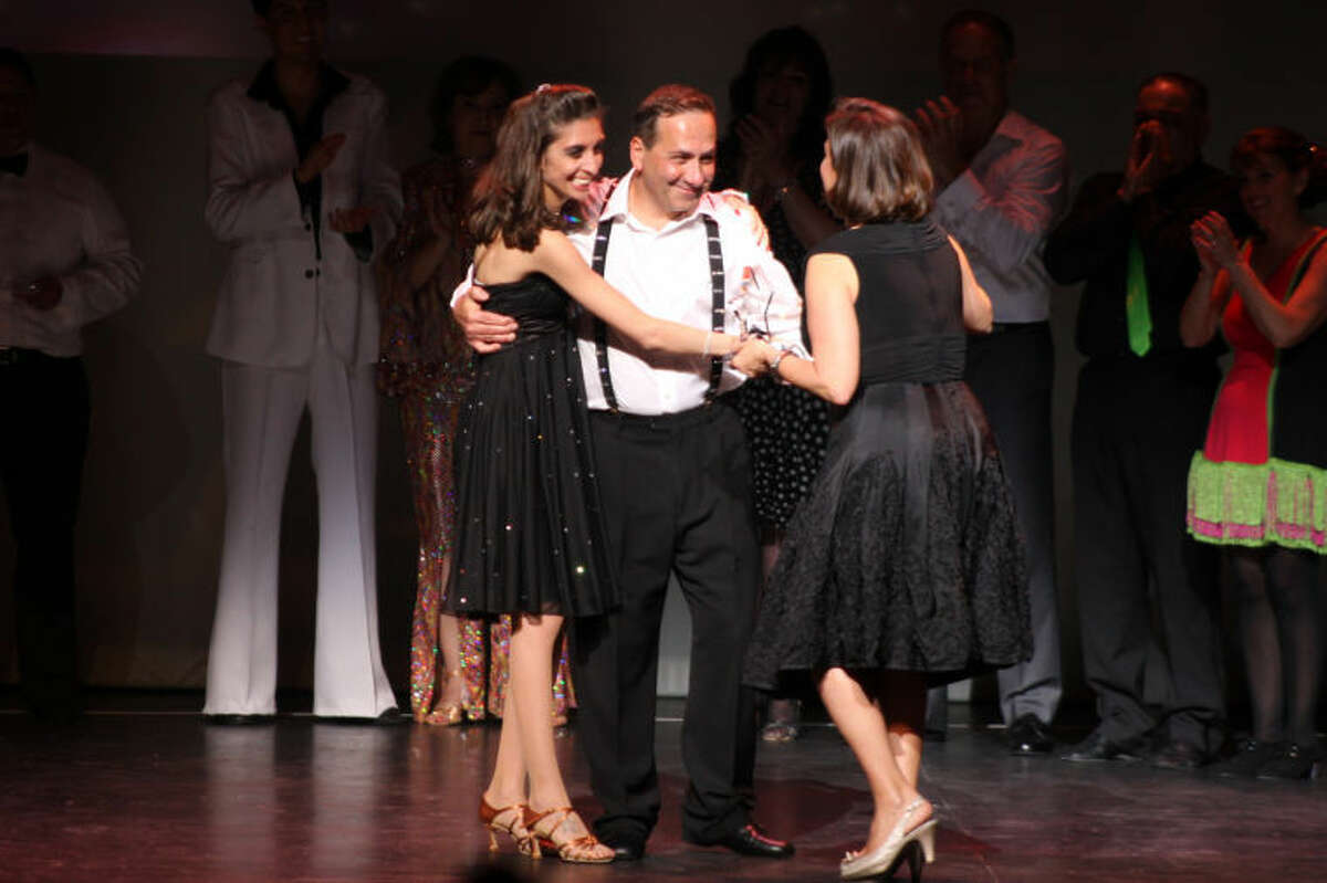 Winner of the 2013 Peoples' Choice Award Nagi Osta of Stamford and his professional dance partner, Rosa Fanelli of Arthur Murray Grande Ballroom of Greenwich.