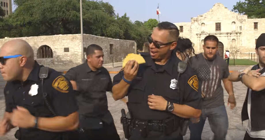 Click ahead for hilarious news from law enforcementSAPD got goofy in it's 9-minute Running Man Challenge video featuring a cop duo responding to calls throughout the city where the running man was needed.Read More: San Antonio fire, police departments get in on the 'Running Man Challenge' fun Photo: YouTube Screenshot
