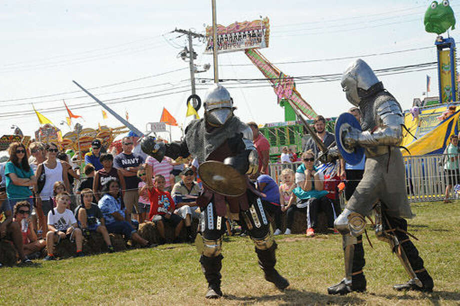 Medieval Combat Arts Sunday the Oyster Festival. Hour photo/Matthew Vinci