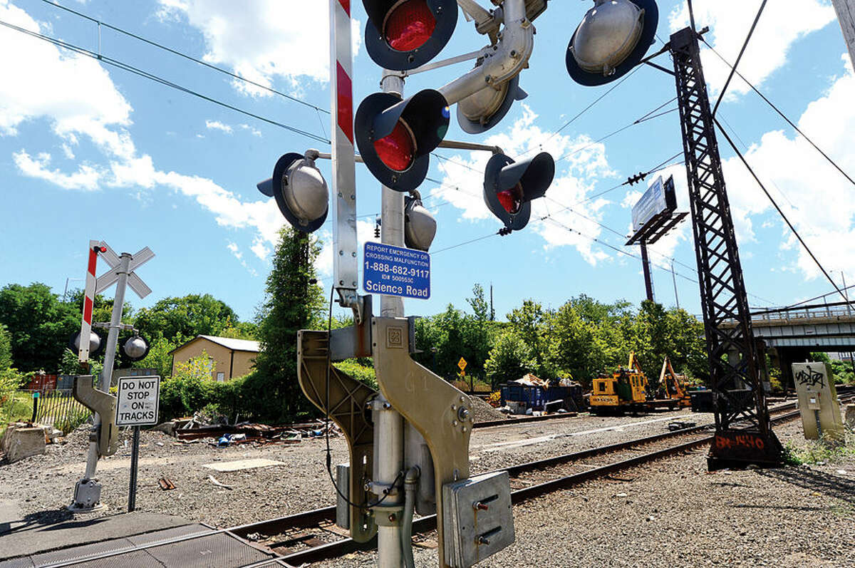 Hour photo / Erik Trautmann There is a plan to build new railroad dockyard in Norwalk for Metro-North's Danbury Line at Science Road and Crescent St. The State Bond Commission last month appproved $4 million for project and Norwalk's legislative delegation in Hartford on Wednesday asked U.S. Department of Transportation secretary to support Connecticut's request for $12 million in federal funds for the project.