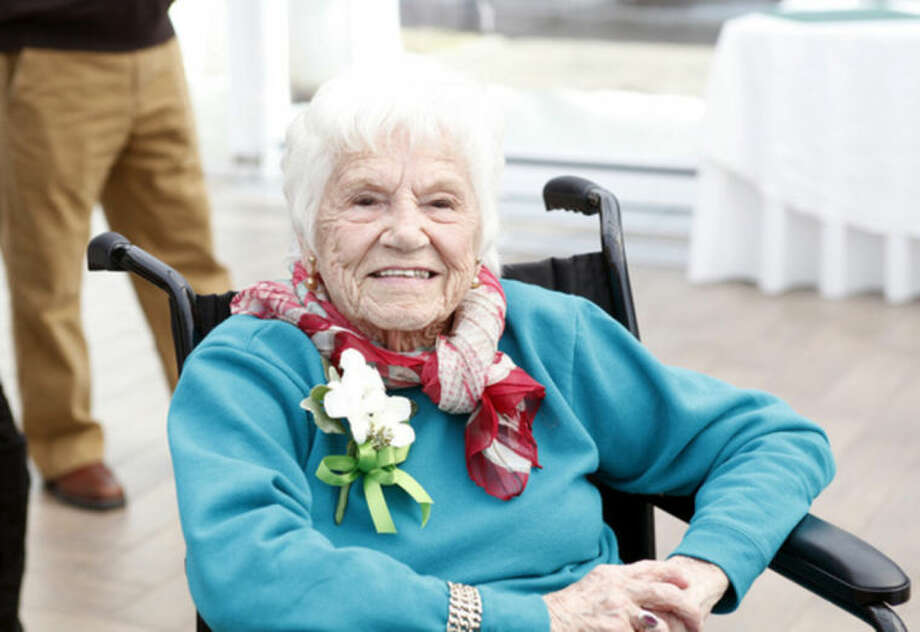 Vivian Salvatore, Former Miss Roton Point (1931), celebrates her 100th birthday at the Norwalk Inn Sunday afternoon.Hour Photo / Danielle Calloway
