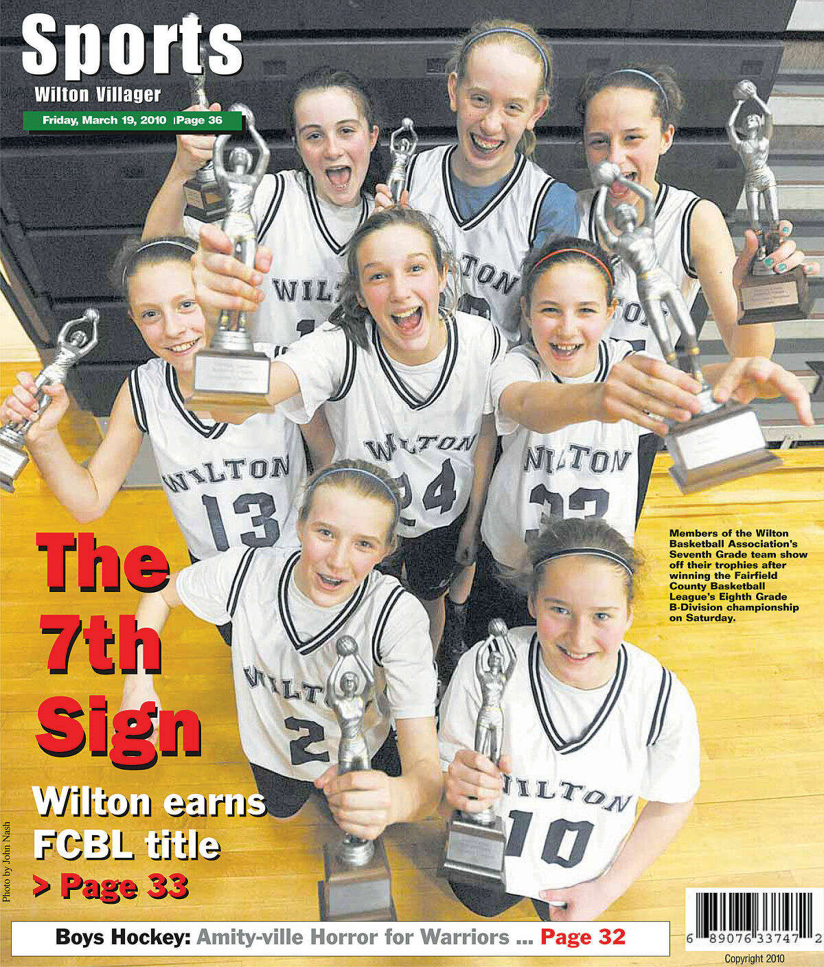 As seventh graders, Wilton won the second of three straight FCBLchampionships in 2010. (File photo)