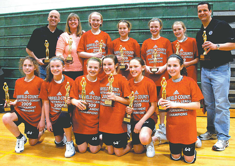 The Wilton girls basketball team after they won the championship in sixth grade. (Contributed phtot)