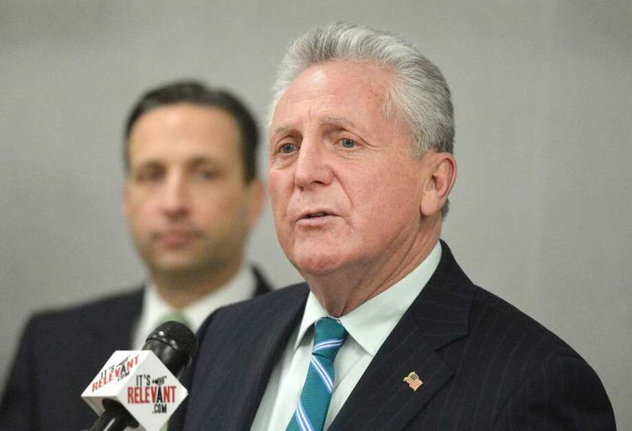 Hour Photo/Alex von Kleydorff Norwalk Mayor Harry Rilling talks about Homes Saved by Faith and the programs free monthly sessions offered to fairfield County Homeowners facing forclosure