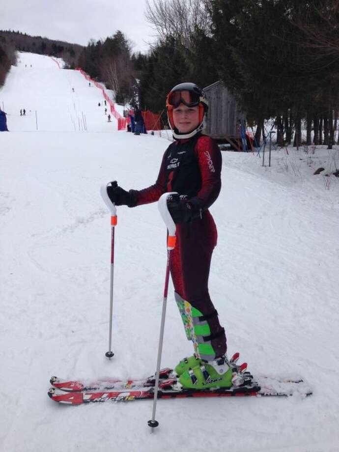 Kira at ski race.