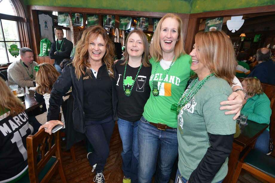 Hour Photo/Alex von Kleydorff All smiles during St. Patricks day at O'Neill's Pub and Restaurant in Sono Tuesday