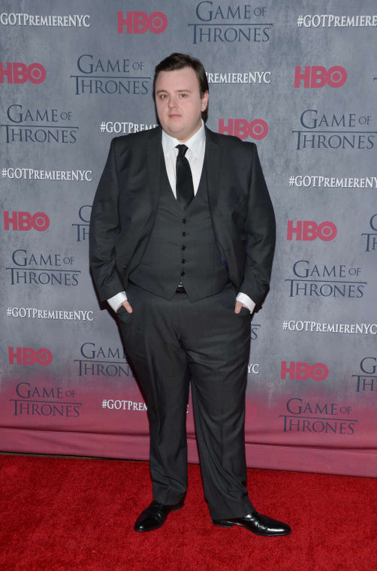 """Actor John Bradley attends HBO's """"Game of Thrones"""" fourth season premiere at Avery Fisher Hall on Tuesday, March 18, 2014 in New York. (Photo by Evan Agostini/Invision/AP)"""