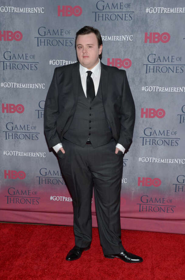"Actor John Bradley attends HBO's ""Game of Thrones"" fourth season premiere at Avery Fisher Hall on Tuesday, March 18, 2014 in New York. (Photo by Evan Agostini/Invision/AP)"