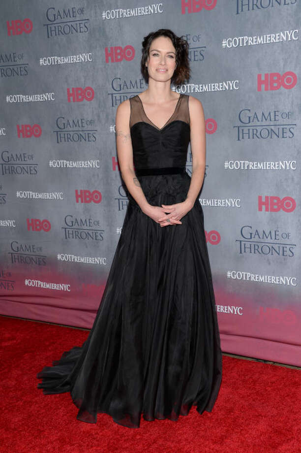 """Actress Lena Headey attends HBO's """"Game of Thrones"""" fourth season premiere at Avery Fisher Hall on Tuesday, March 18, 2014 in New York. (Photo by Evan Agostini/Invision/AP)"""