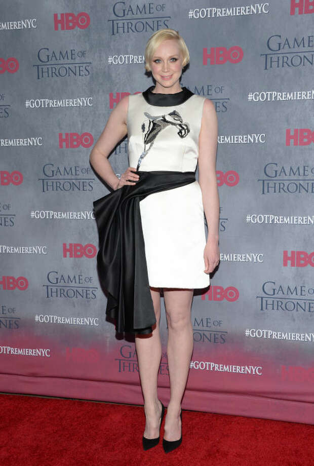 "Actress Gwendoline Christie attends HBO's ""Game of Thrones"" fourth season premiere at Avery Fisher Hall on Tuesday, March 18, 2014 in New York. (Photo by Evan Agostini/Invision/AP)"