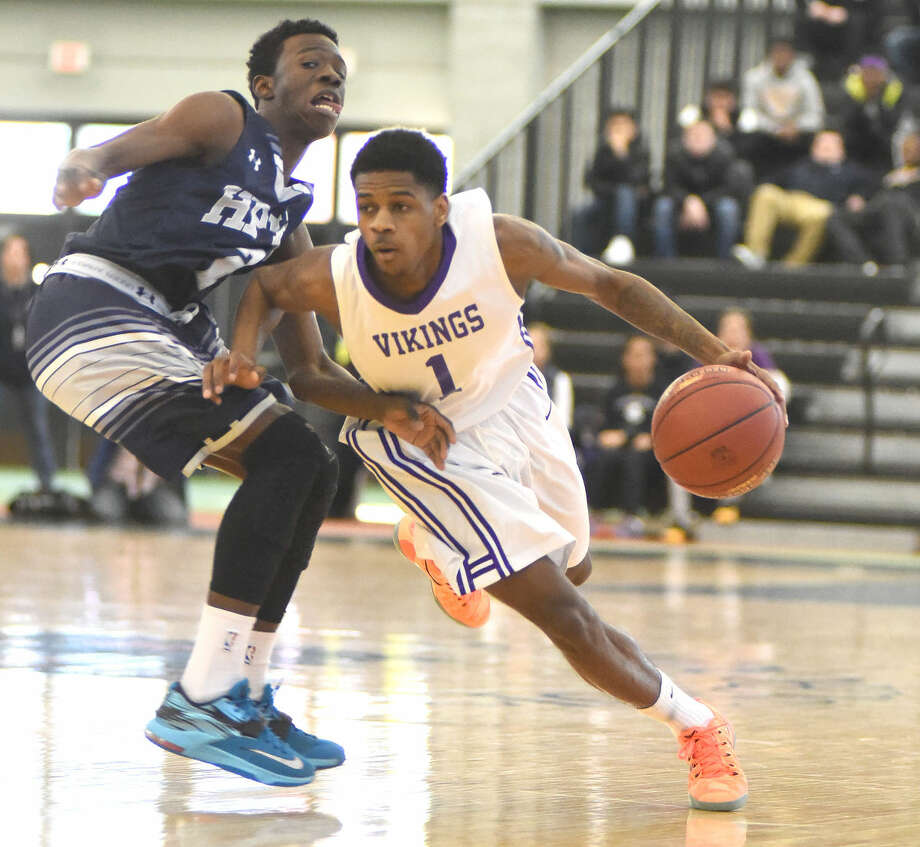 Jeremiah Livingston of Westhill drives to the hole.