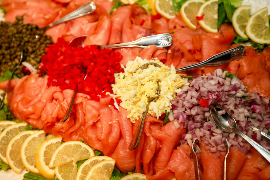 Hour photo/Chris Palermo. Some of the food at the Norwalk Seaport Association annual Lightkeeper's Gala at the Norwalk Inn Saturday night.