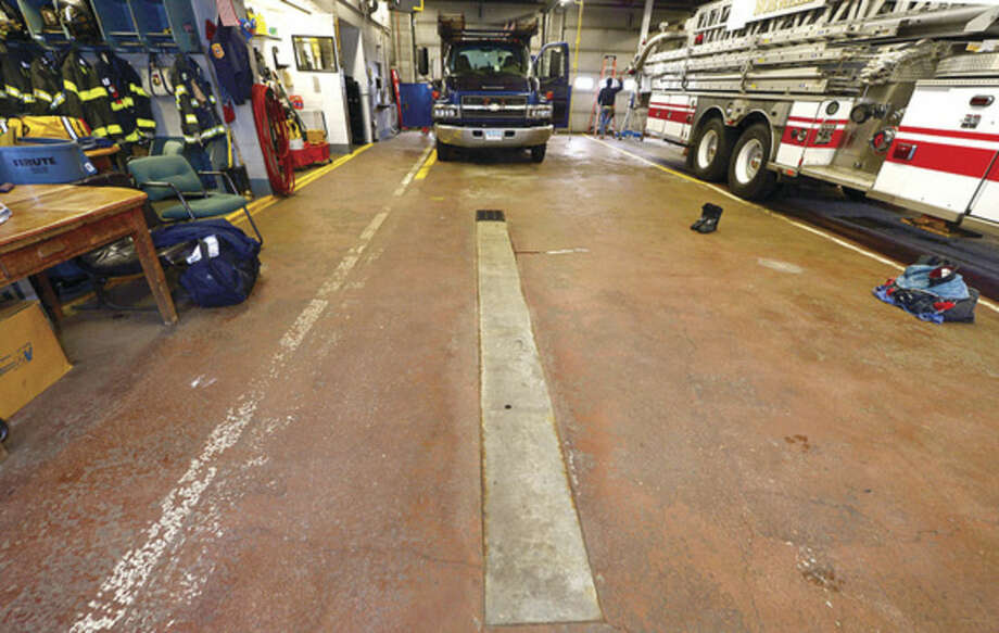 Hour photo / Erik Trautmann The Norwalk Fire Department will renovate Broad River Station No. 1 at 90 New Canaan Ave. later this year. Reallocation of $934,000 leftover from new headquarters construction will pay for the work.