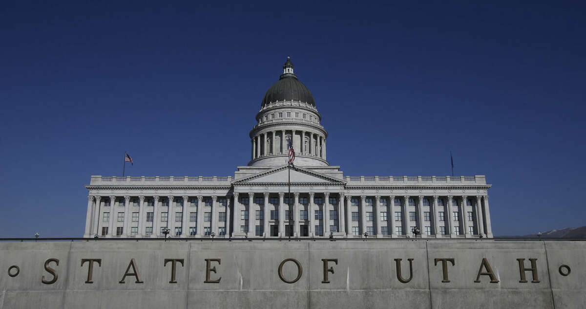 FILE - In this Jan. 26, 2015, file photo, shows the Utah State Capitol, in Salt Lake City. Utah became the only state to allow firing squads for executions Monday, March 23, 2015, when Gov. Gary Herbert signed a law approving the controversial method's use when no lethal-injection drugs are available. Herbert has said he finds the firing squad
