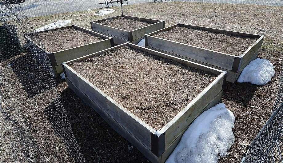 Hour Photo/Alex von Kleydorff The Raised garden beds at the neighborhood garden at Trackside will be added to