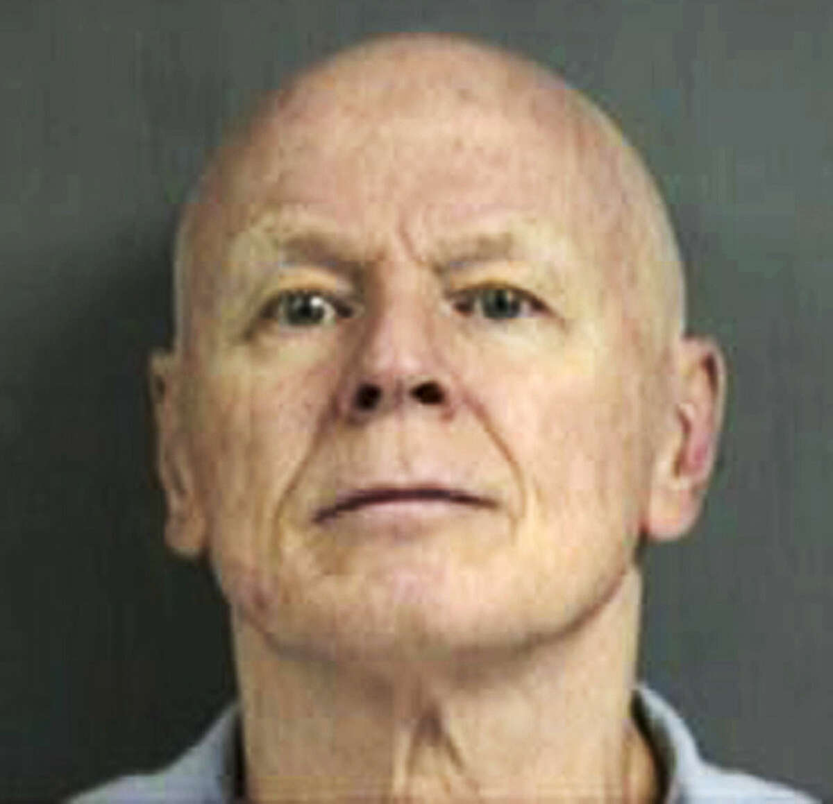 FILE - This undated Connecticut Department of Correction inmate file photo shows Gary Gerard Castonguay, serving a prison sentence after being convicted in 1980 for killing a Plainville, Conn., police officer in 1977. A parole hearing for Castonguay is set for Wednesday, March 25, 2015, at the MacDougall-Walker Correctional Institution in Suffield, as the parole board reconsiders its previous decision to release him. A three-member parole board panel had voted to free Castonguay in July 2015 following a 17-minute hearing without input from the prosecutor or the victim's family. (AP Photo/Connecticut Department of Correction, File)