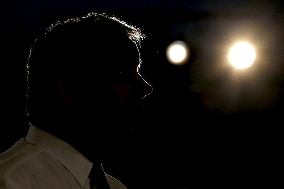 New Jersey Gov. Chris Christie speaks at a town hall meeting at the Hanover Township Community Center, Tuesday, March 24, 2015, in Whippany, N.J. (AP Photo/Julio Cortez)