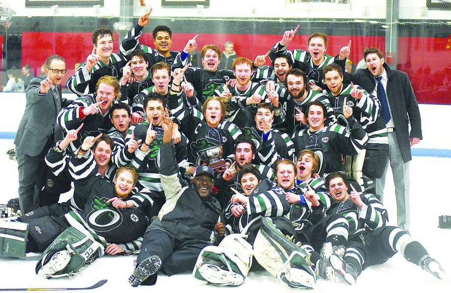 The Connecticut Oilers of Norwalk won the EHL Championship on Wednesday night at Cyclones Arena in Hudson, N.H., knocking off the defending league champion Northern Cyclones with a 4-1 win in the fifth and deciding game of the championship series. (Hour photo/John Nash)