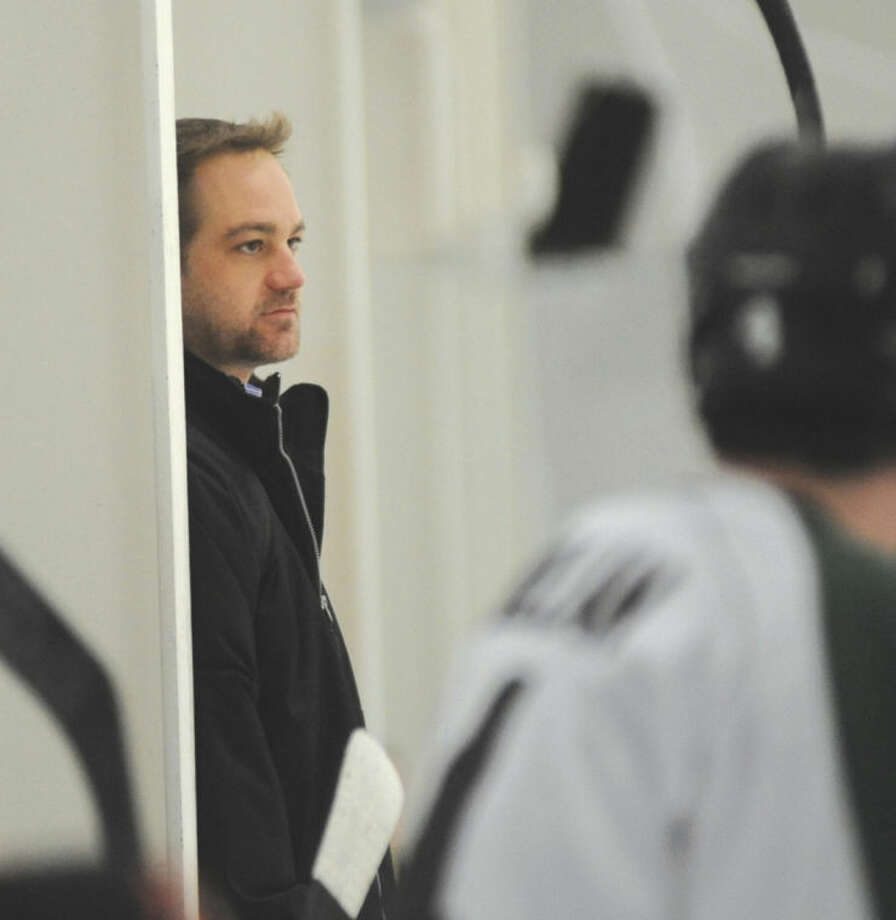 Hour photo/John NashAfter leading the Connecticut Oilers' EHL team to a 26-13-3 record, good for the best in the EHL's Central Division, head coach Eric Lind earned the league's Coach of the Year award.