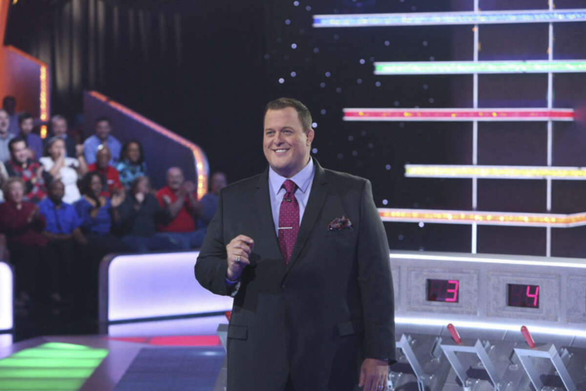 In this undated photo provided by Monopoly Millionaires' Club, Bill Gardell hosts the new game show