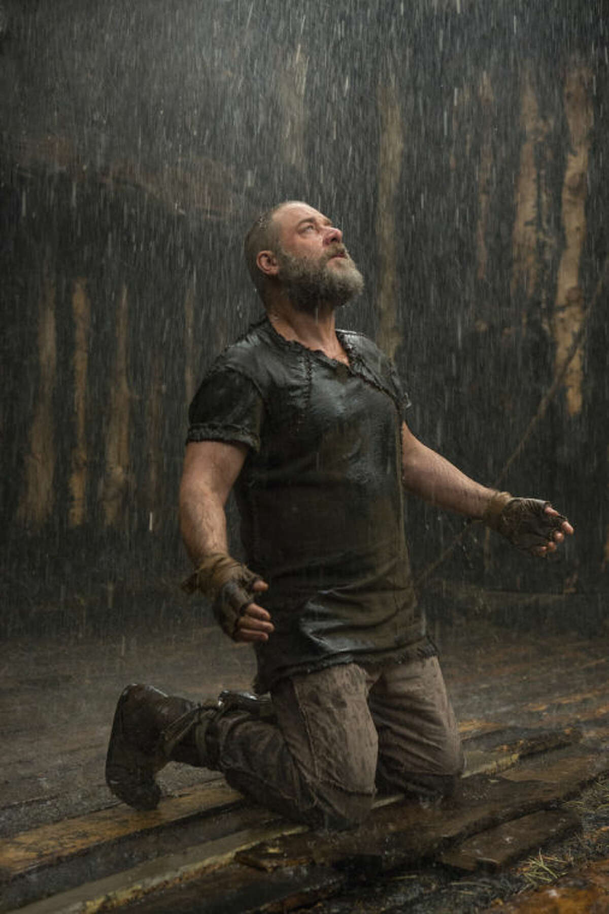 This image released by Paramount Pictures shows Russell Crowe as Noah in a scene from the film,
