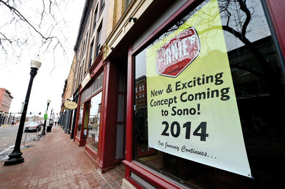 Hour photo / Erik Trautmann The old Bacchus location at 120 Washington St. in SoNo. Some businesses are finding hard to keep their doors open while others look to reinvent themselves.