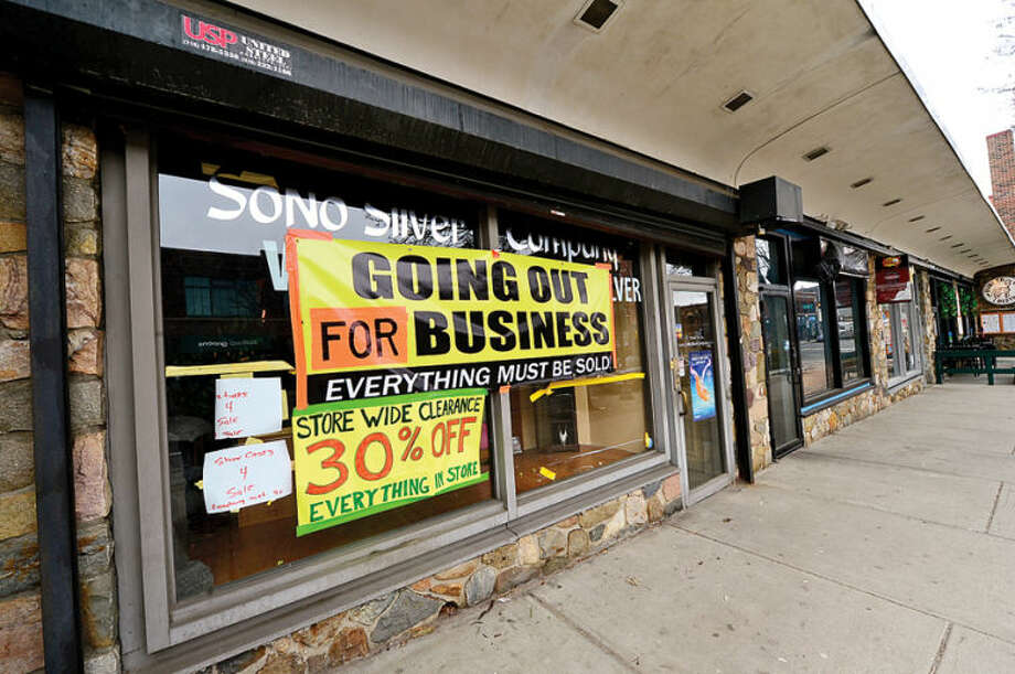 Hour photo / Erik Trautmann The old SoNo Silver location at 58 N Main St in SoNo. Some businesses are finding hard to keep their doors open while others look to reinvent themselves.