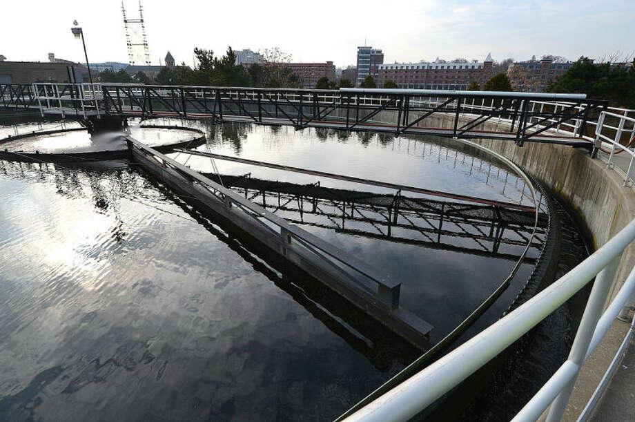 Hour Photo/Alex von KleydorffOne of the Final Effluent De Chlorination Tanks at The Norwak Waste Water Treatment Plant.