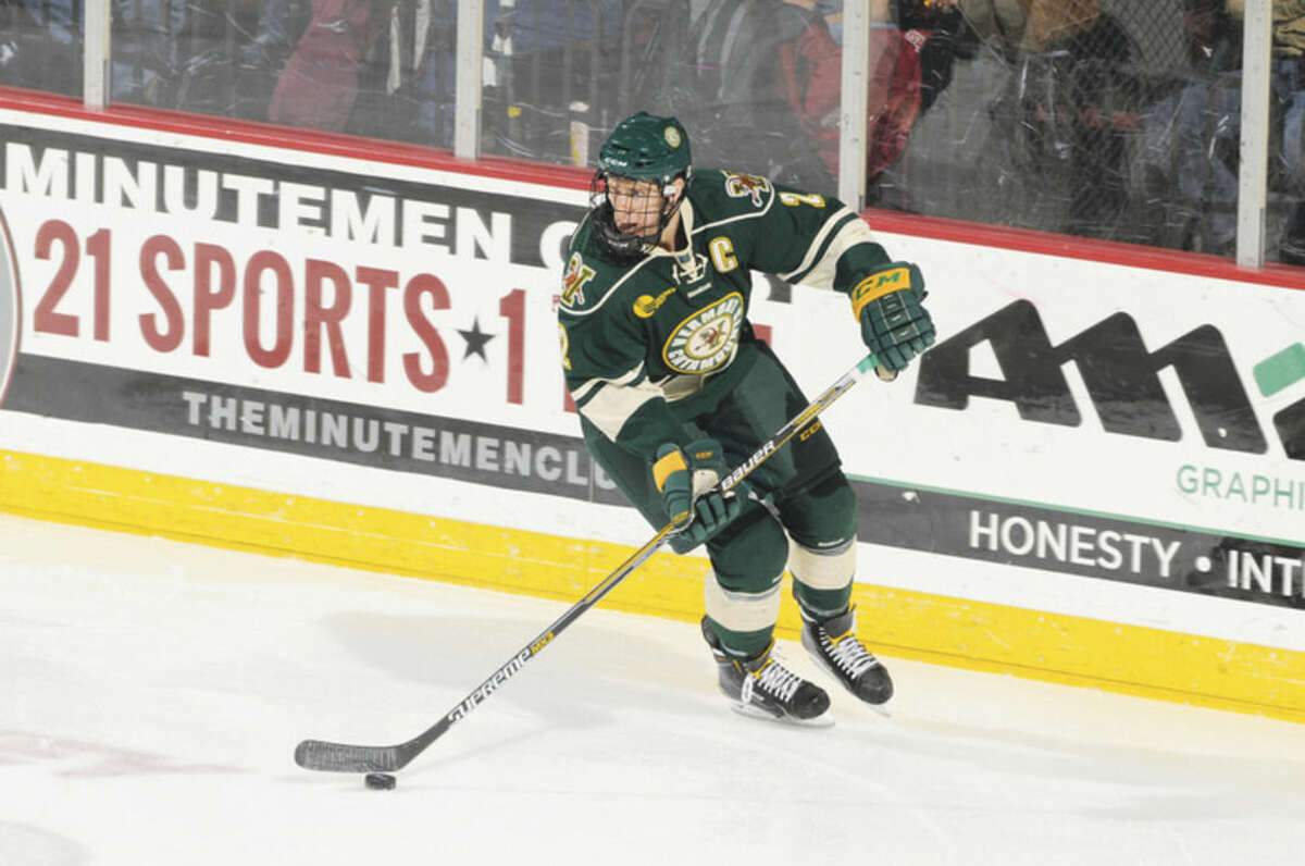 Vermont Athletics Westport's Mike Paliotta starred at the Univertsity of Vermont before signing with the Chicago Blackhawks.