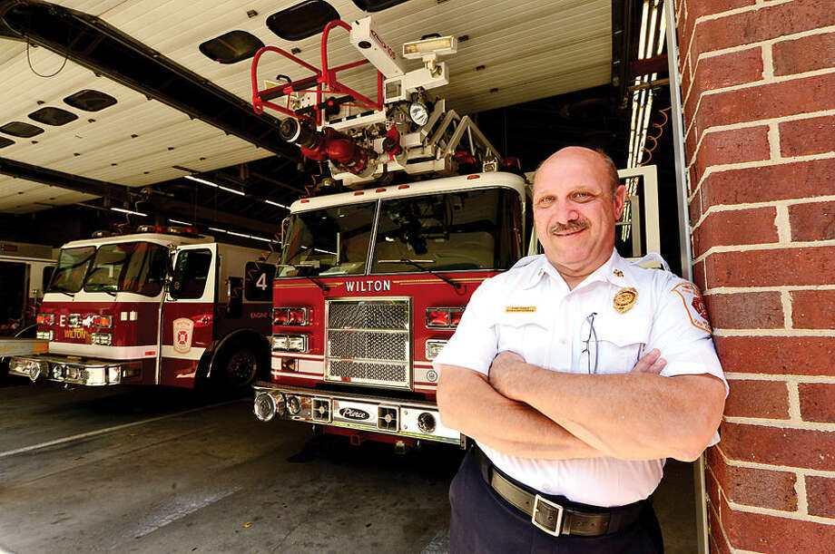 Wilton Fire Chief Ronald Kanterman needs residents to improve house number identification.