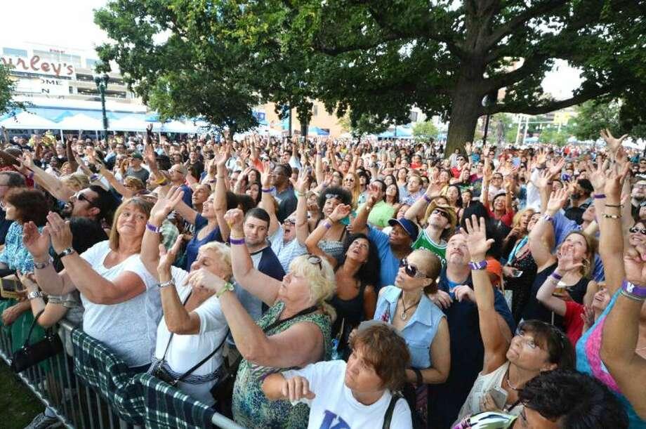 Hour Photo/Alex von Kleydorff Alive@Five in Stamford's Columbus Park on Thursday July 10th
