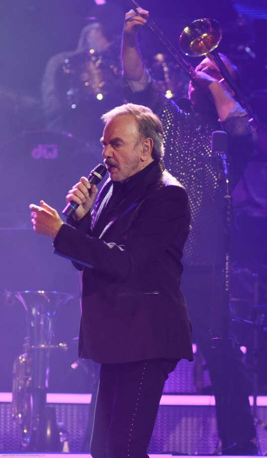 Hour photo/John Nash - Singing legend Neil Diamond performed at the Mohegan Sun Arena on Saturday, March 28, 2015.