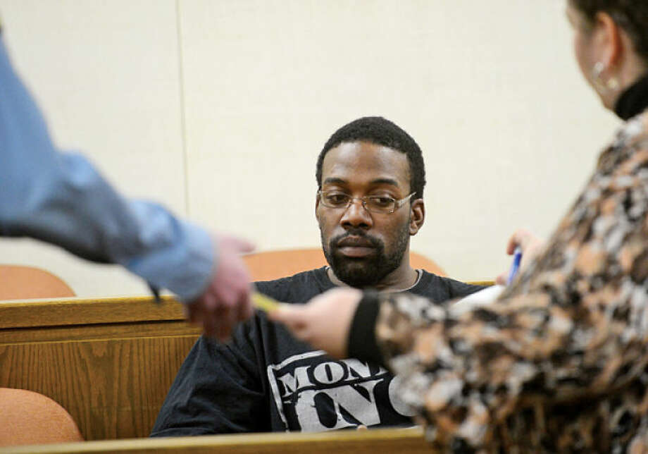 26-year-old Kareem Leach who was extradited from Florida is arraigned on charges related to a shooting in Norwalk Superior Court Friday. Hour photo / Erik Trautmann