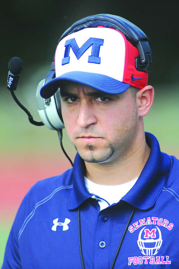 Brien McMahon football head coach A.J. Albano is staying at Brien McMahon. (Hour photo)