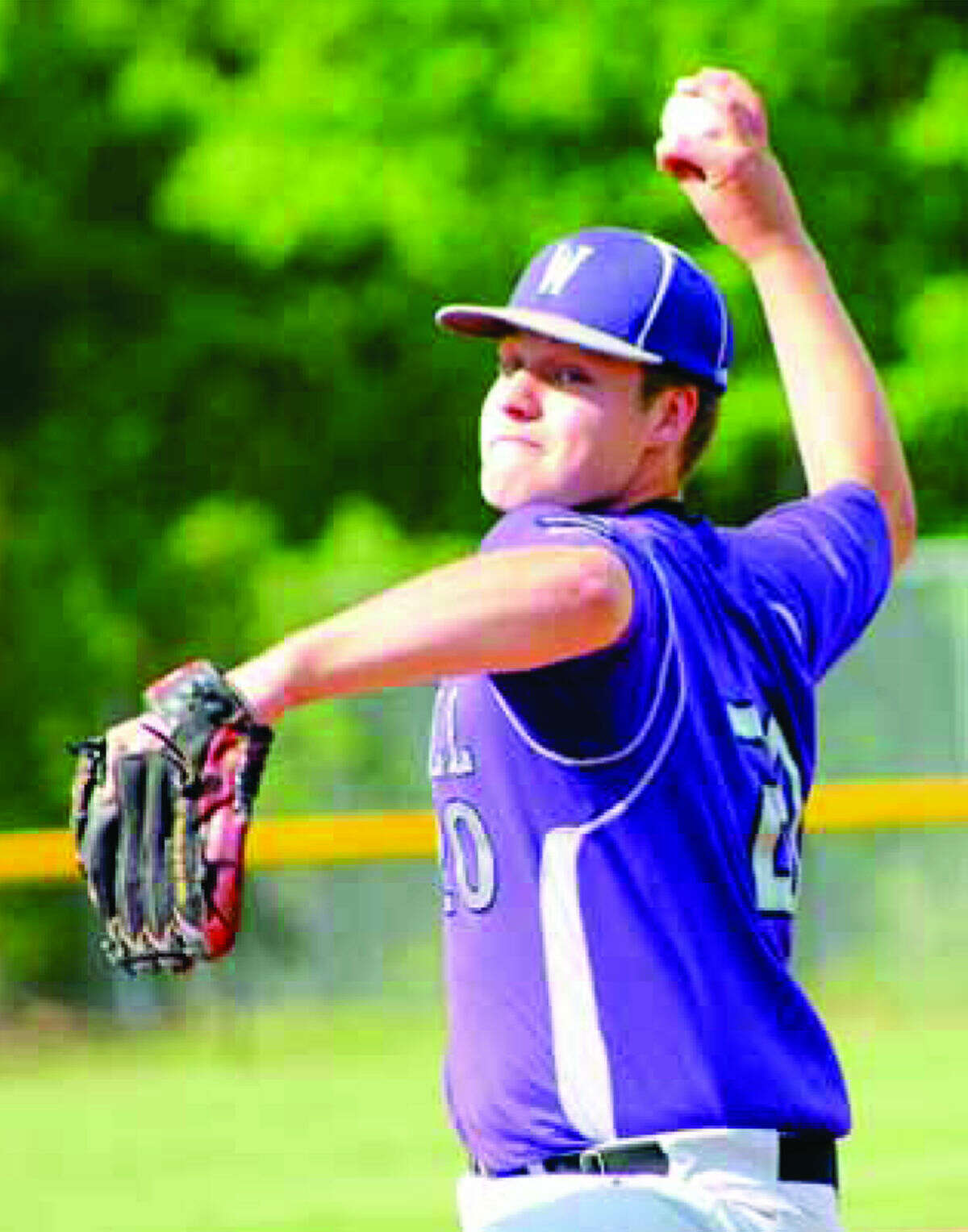 Westhill's Billy Blau, throws during a game last season. (Hour photo)