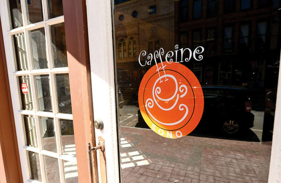 Hour photo / Erik Trautmann Caffeine coffee house has closed it's location on Washiongton St. and has become the latest business to fold in SoNo.