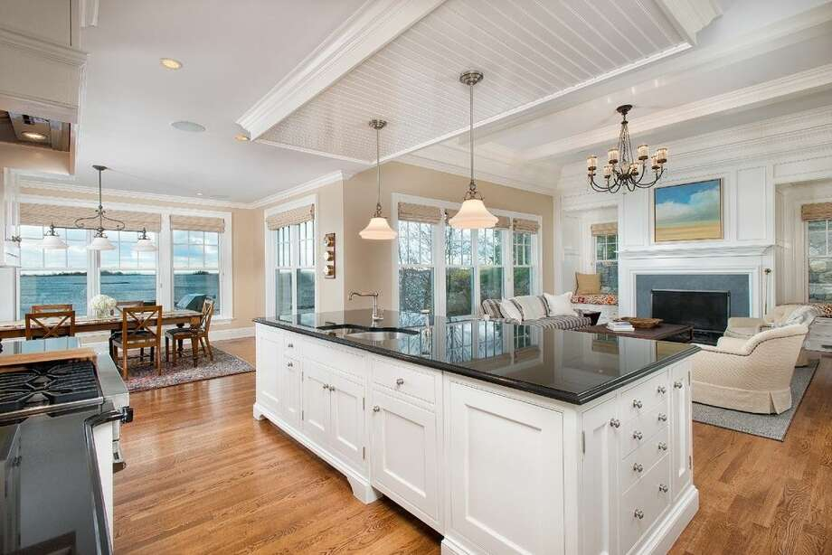 10 Woodland Rd, Norwalk, CT 068545 beds6 baths6,088 sqftFeatures: Master suite with a spa bath, tennis courts, beach, dock and club house.(Credit:Zillow)