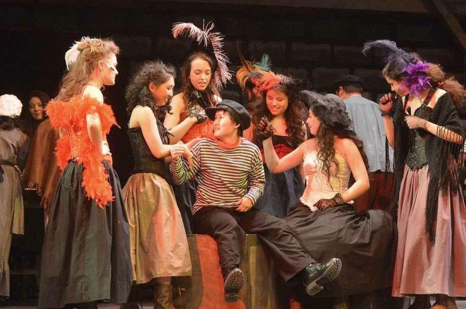 Hour Photo/Alex von Kleydorff The cast of Les Miserables at Brien McMahon High School