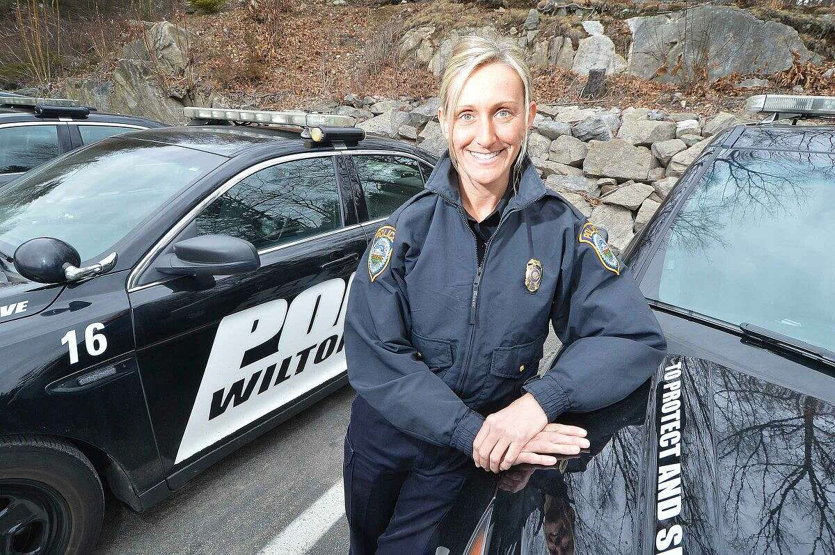 Officer of the Year Eva Zimnoch is the first female to earn the distinction in WiltonPolice Department history.