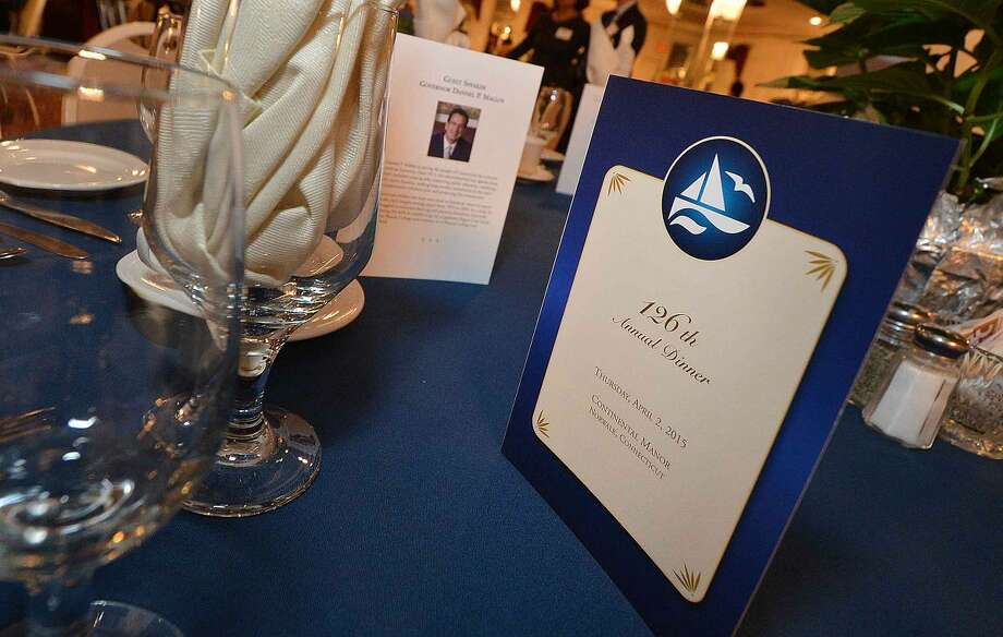 Hour Photo/Alex von Kleydorff Guests enjoy the cocktail reception at The Greater Norwalk Chamber of Commerce 126th Annual Dinner.