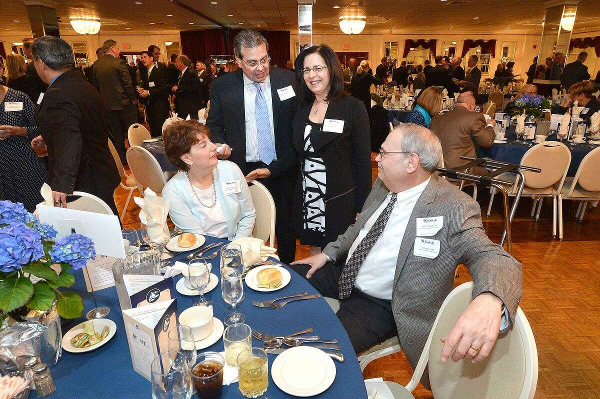 Hour Photo/Alex von Kleydorff Guests enjoy the cocktail reception before dinner at The Greater Norwalk Chamber of Commerce 126th Annual Dinner.