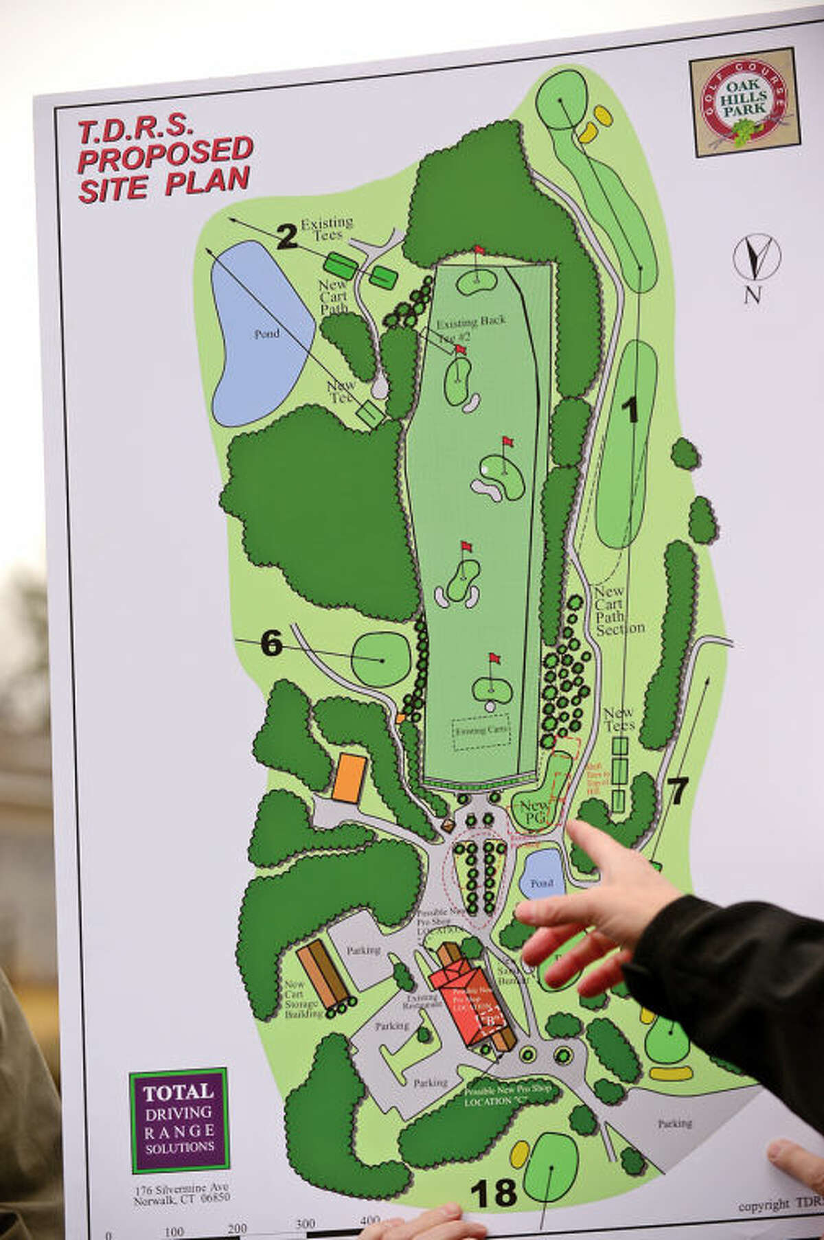 Hour photo / Erik Trautmann The Oak Hills Park Authority host an Informational tour of area covered by the Strategic Plan which includes a new driving range Saturday at Oak Hills Park.